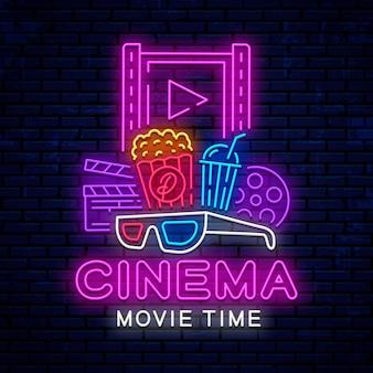 Éléments de cinéma néon