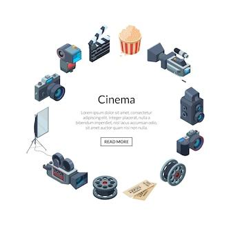 Éléments cinématographiques en forme de cercle