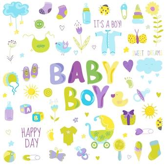 Éléments de conception de bébé garçon