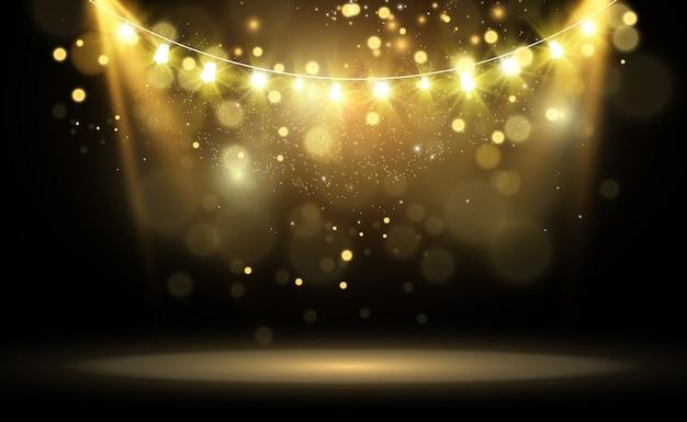 Éléments de conception de belles lumières lumineuses lumières incandescentes