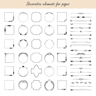 Éléments de conception calligraphiques.