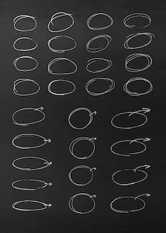 Éléments de conception de crayon de vecteur