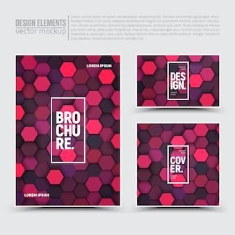Éléments de conception: flyer, carte, bannière.