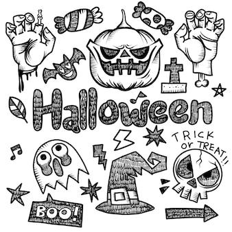 Éléments de conception halloween heureux