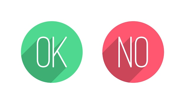 Éléments de conception d'interface utilisateur ok pas de boutons sur fond blanc