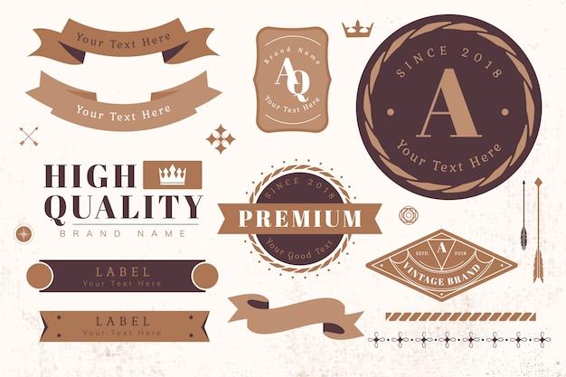 Éléments de conception de logo et de bannière