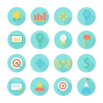 Éléments de conception marketing marketing et bureau infographique