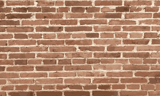 Éléments de conception mur de briques brunes