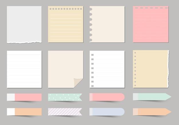 Éléments de conception pour cahier, agenda, autocollants et autres modèles.