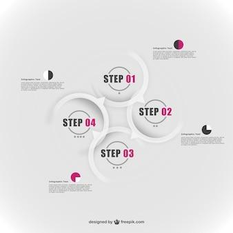 Des éléments de conception rondes infographie