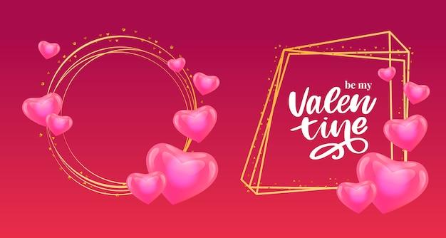 Éléments de conception de la saint-valentin.