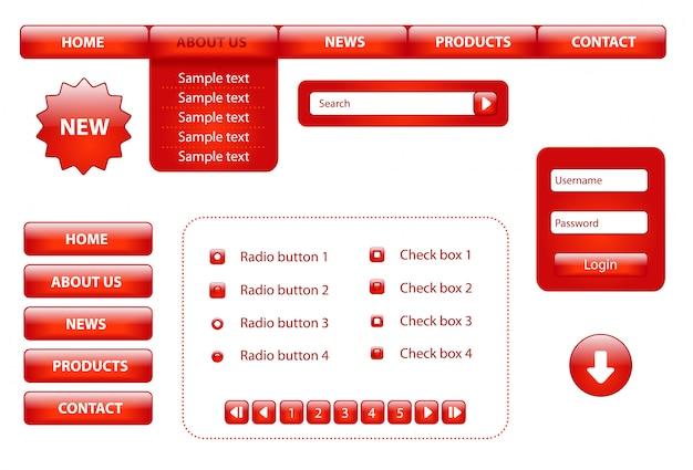 Éléments de conception de site web