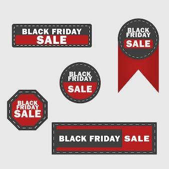 Éléments de conception de vente vendredi noir.