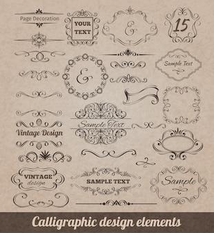 Éléments de conception calligraphique
