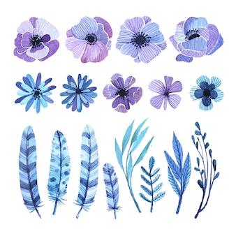 Éléments décoratifs floraux