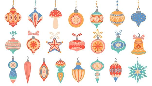 Éléments décoratifs de noël mignons