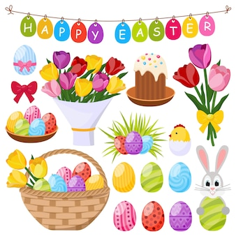 Éléments décoratifs de pâques