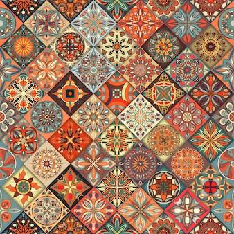 Éléments décoratifs de tuile de patchwork vintage.