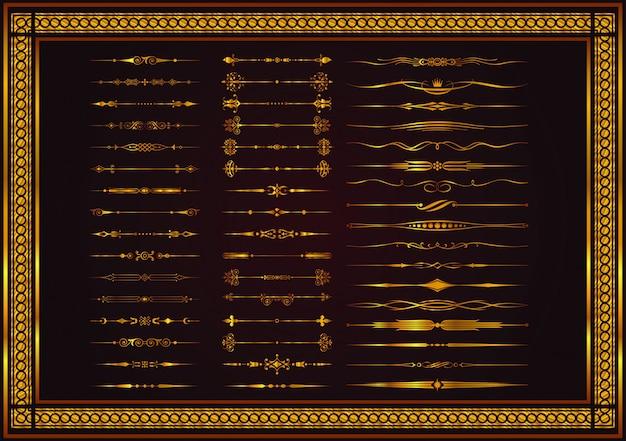 Éléments décoratifs de la vignette ensemble de style vintage