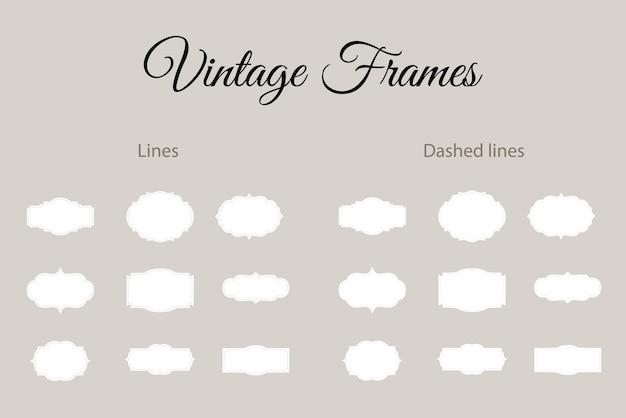 Éléments décoratifs vintage frames