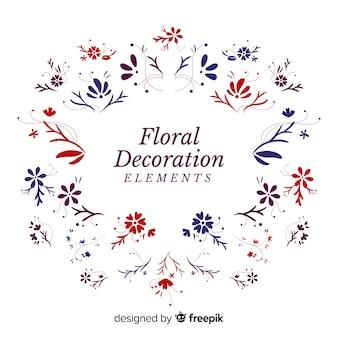 Éléments de décoration florale dessinés à la main
