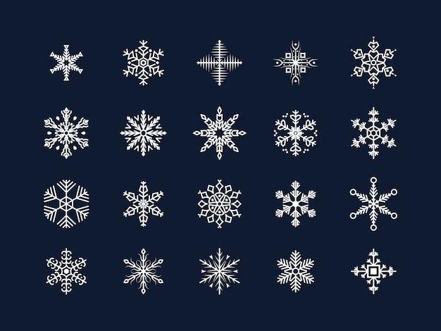 Éléments de décorations d'hiver.