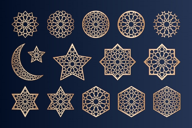 Éléments de découpe laser avec motif islamique.