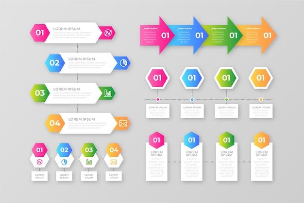 Éléments de dégradé d'infographie