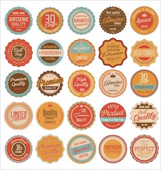 Éléments de design collection vintage étiquettes collection