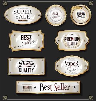 Éléments de design doré de luxe