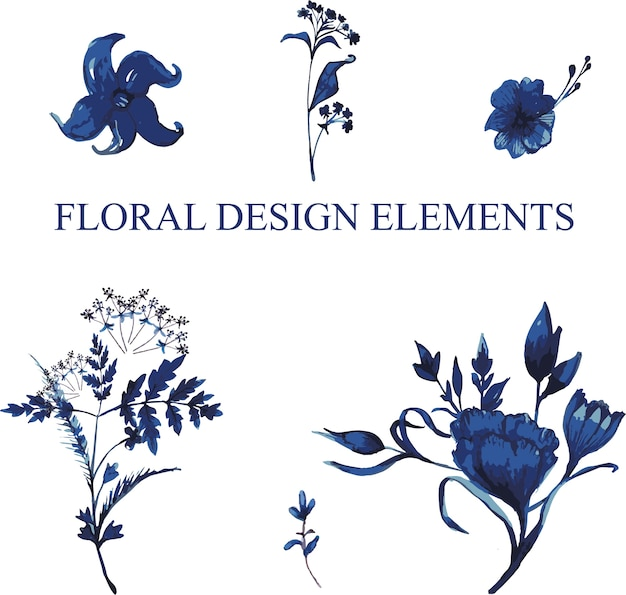 Éléments de design floral