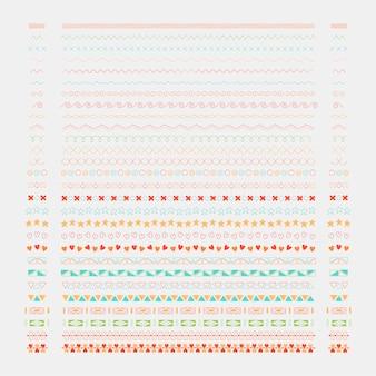 Éléments de design de ligne diviseur vector collection
