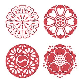 Éléments de design traditionnel coréen