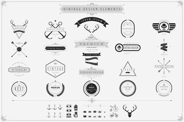Éléments de design vectoriel vintage
