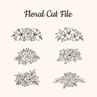 Éléments de dossier de belle coupe florale