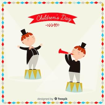 Eléments du cirque pour la journée des enfants