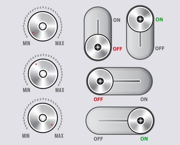 Éléments du kit d'interface utilisateur, ensemble à bascule curseur