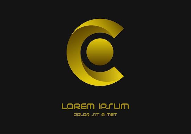 Éléments du modèle de conception lettre c logo icon