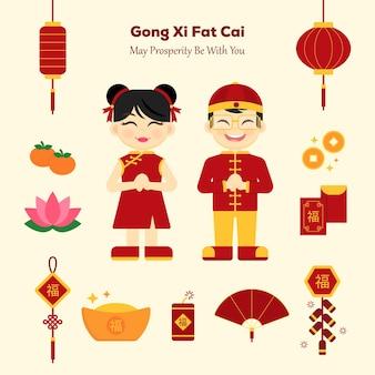 Éléments du nouvel an chinois
