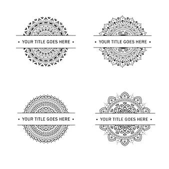 Éléments du titre avec mandala circulaire