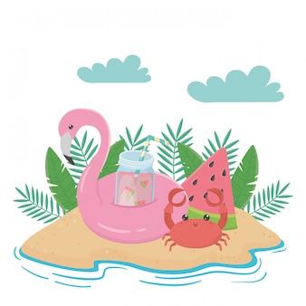 Éléments d'été et de vacances