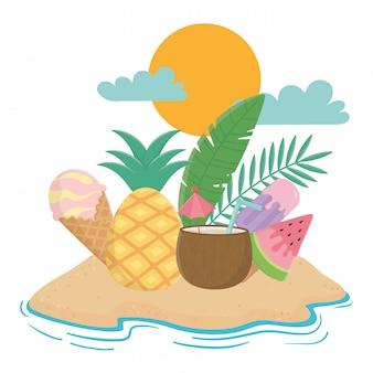 Éléments d'été et vacatioal