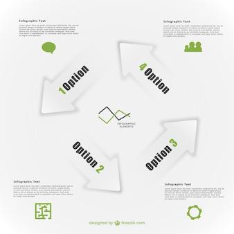 Éléments de flèche abstrait minimales infographiques