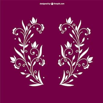 Éléments floraux ornementales ensemble gratuit