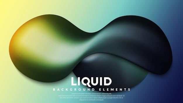 Éléments de fond liquide avec dégradé coloré