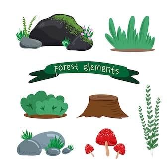 Éléments de la forêt naturelle