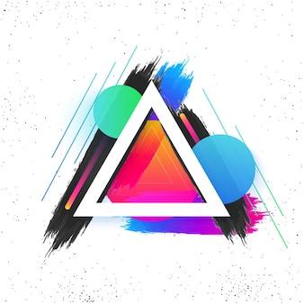 Éléments géométriques abstraits et colorés.