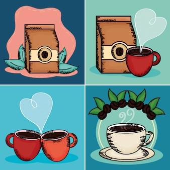 Éléments de l'heure du café