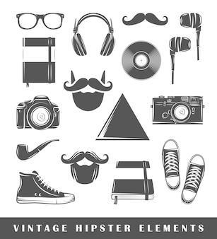 Éléments de hipster rétro