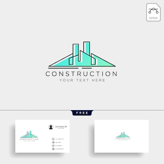 Éléments d'icône architecture construction logo template vector